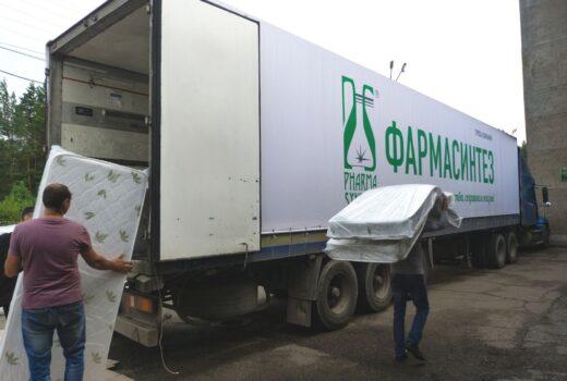 Компания «Фармасинтез» доставила гуманитарный груз в г. Тулун